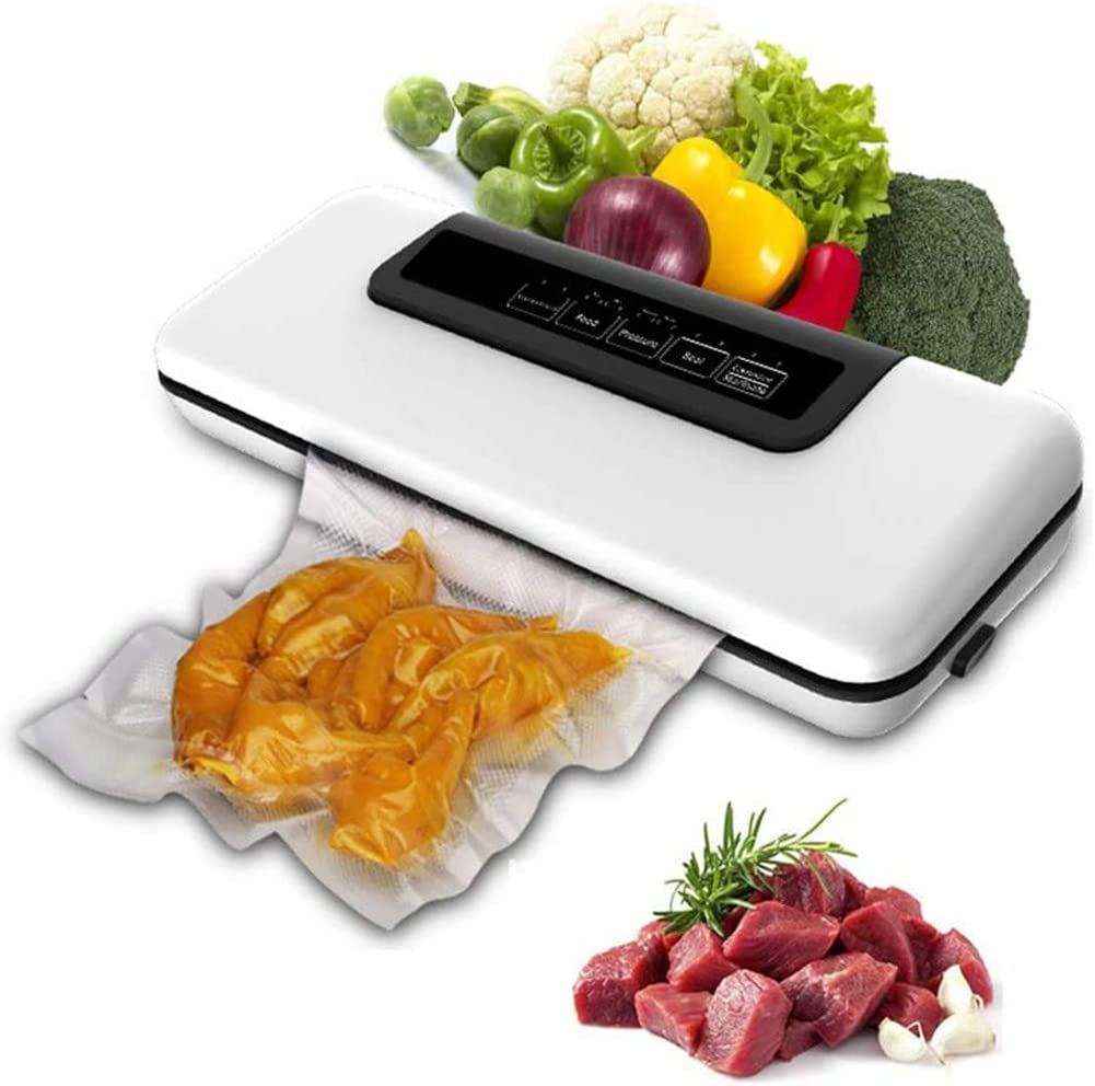 WYYZSS Vacuum Sealer Machine, Automatic Food Sealer for Food Savers with Led Indicator Lights|Easy to Clean|Dry & Moist Food Modes