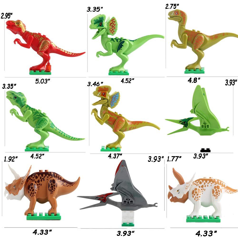 Extpro 12PCS Mini DIY Dinosaur Building Block Assembly Playset Toys for Kids and Adult