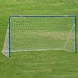 EZGoal Soccer Goal Net & Practice Rebounder, 12' x 6', Blue/White