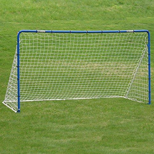 EZGoal Soccer Goal Net & Practice Rebounder, 12' x 6', Blue/White by EZGoal