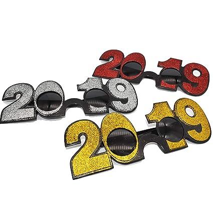 6aed8c97b1 Amazon.com  LUOEM 2019 Graduation Glasses Novelty Sunglasses Party ...