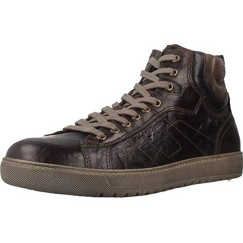 2af9a461bd Nero Giardini A800490U - Botas de Cuero para Hombre Marrón marrón  Amazon.es   Zapatos y complementos