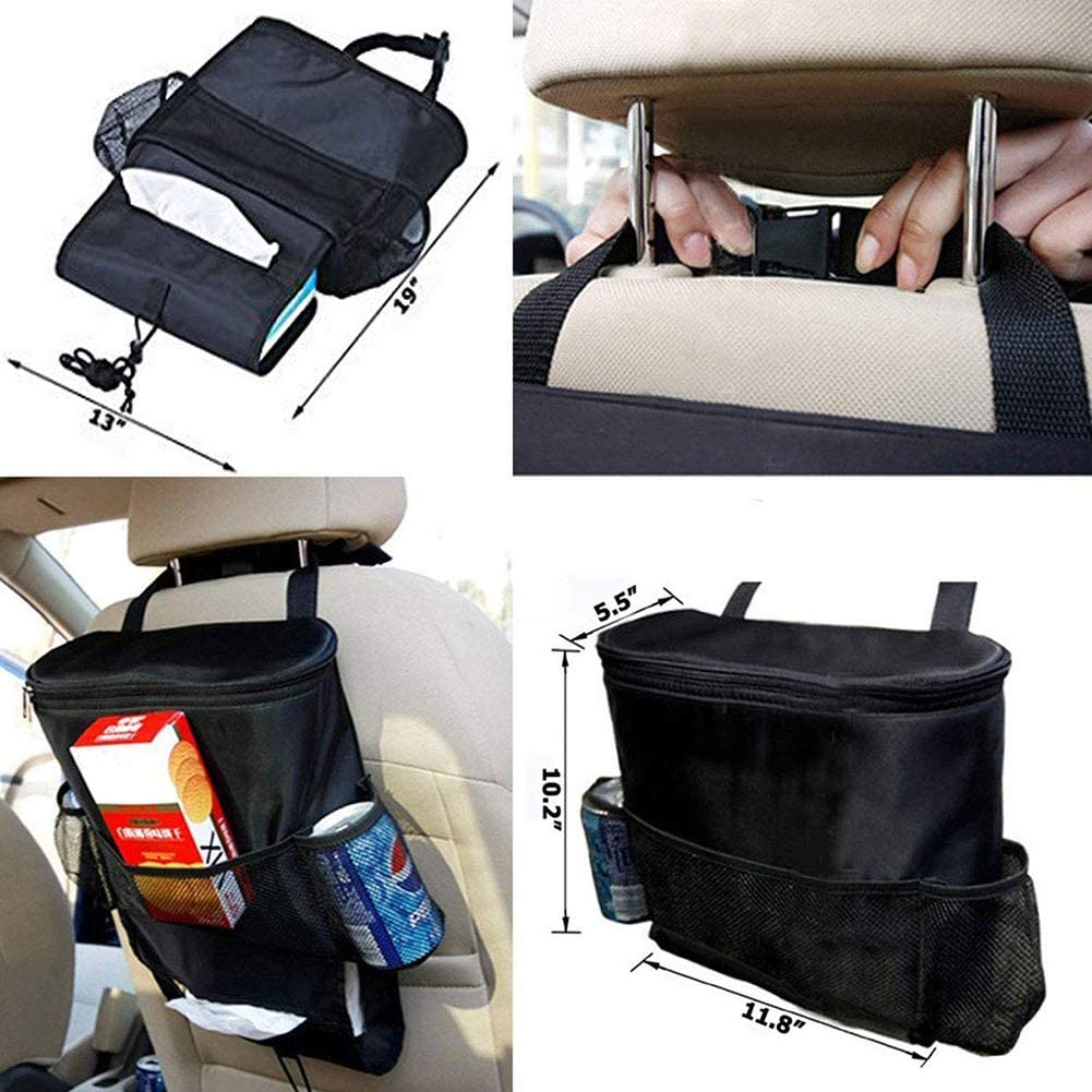 Suszian Car Storage Chair Back Bag Multi-Pocket Large capacity Car Seat Back Storage Bag with Insulation and Refrigeration Design
