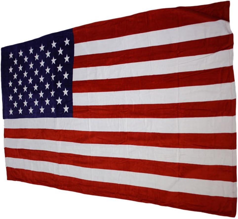 Toalla de playa toalla de baño toalla para barras y estrellas de la bandera estadounidense 100% algodón 175 x 100 cm: Amazon.es: Hogar