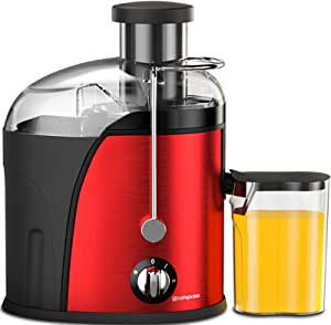 Juicer Wide Mouth Juice Extractor, Juicer Machines BPA Free Compact Fruits & Vegetables Juicer, Dual Speed Centrifugal Juicer with Anti-drip Function, Stainless Steel Juicers Easy to Clean