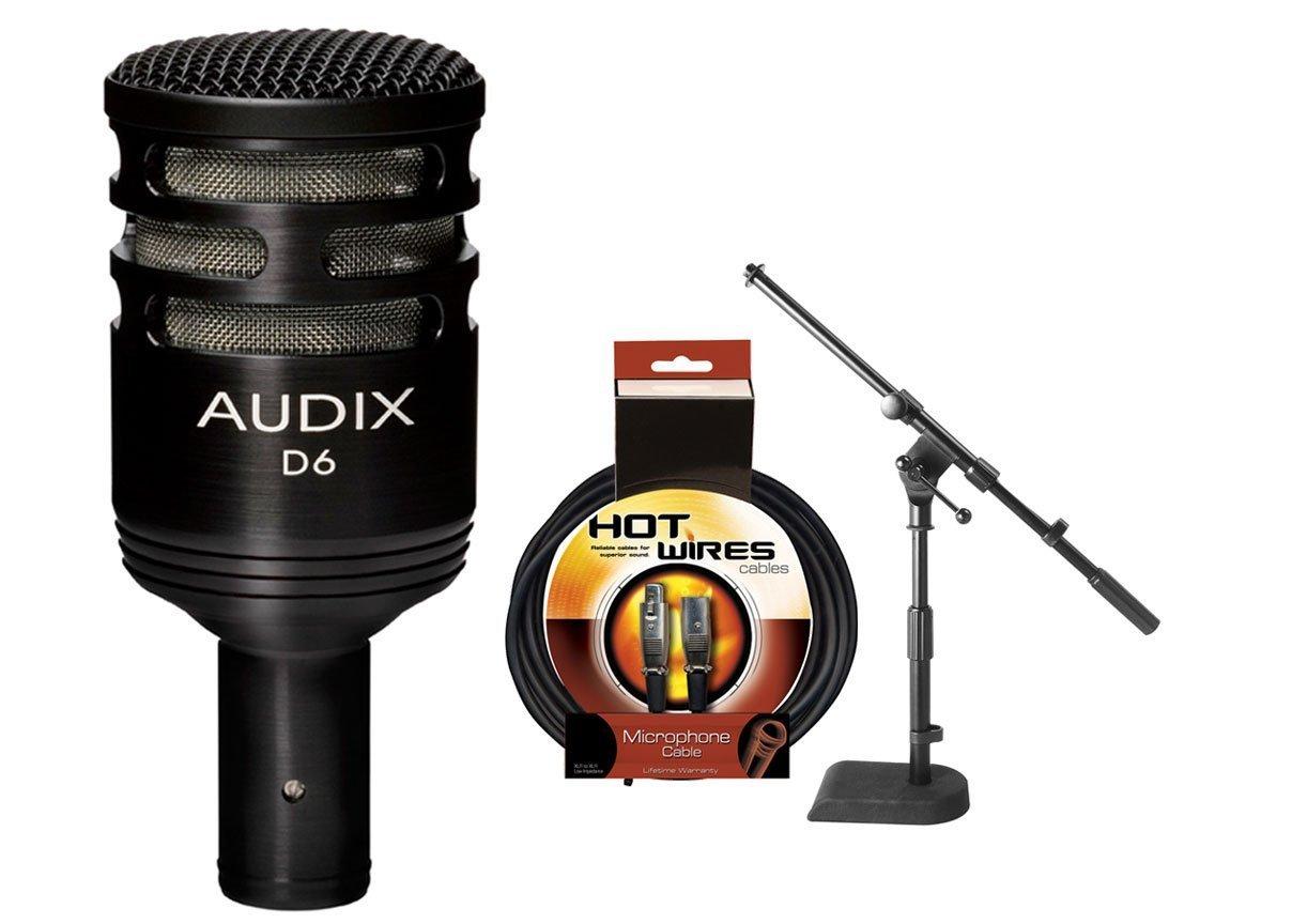 Audix D6 Kick Mic w/ XLR Cable & Mic Stand