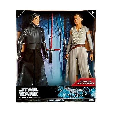 Star Wars Kylo Ren vs. Rey Action Figure 18 - 2 pk: Toys & Games