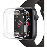 Cooljun Compatible Apple Watch Series 4 40mm/44mm,Étui en Silicone Souple Ultra-Mince Protection TPU Protection