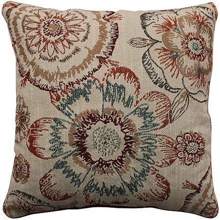 Better Homes Gardens Rust Floral Decorative Pillow
