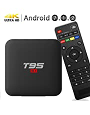 2019 Newest Android 7.1.2 TV Box,EASYTONE T95 Android Boxes Quad-core 1GB DDR3/8GB eMMC support 4k(60Hz) Full HD /H.265/3D Google TV Box