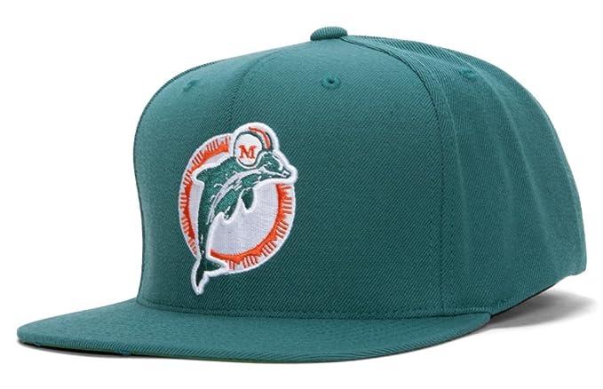 f09ba7c66 Amazon.com : NFL Mitchell & Ness Miami Dolphins Basic Vintage Logo ...