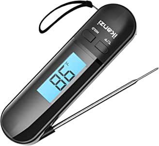 Meat Thermometer Food Thermometer Cooking Thermometer- Digital Instant Read Thermometer for Grilling/BBQ/Baking/Candy/Liquids/Oil Kitchen with Backlight LCD
