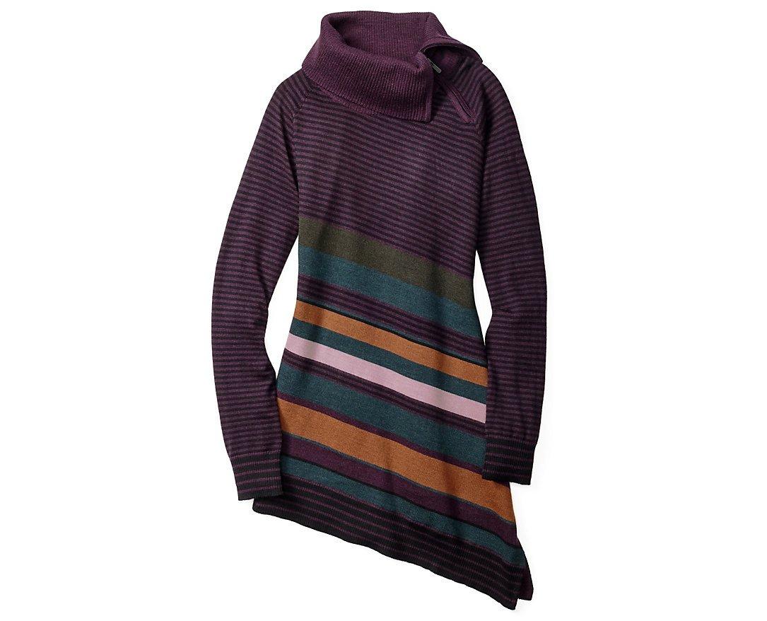 Smartwool Women's Cascade Valley Asymmetric Tunic (Bordeaux Heather) Medium by SmartWool