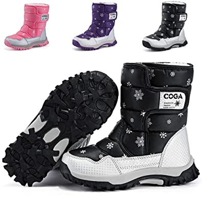 8cc365630ab DADAWEN Boy s Girl s Outdoor Waterproof Cold Weather Snow Boots(Toddler Little  Kid Big