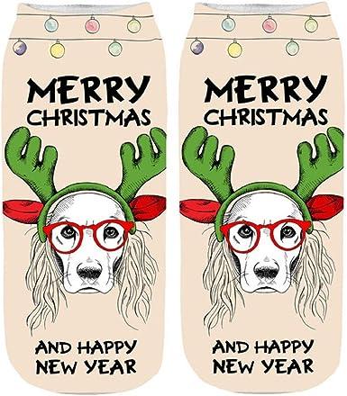 LUCKYCAT navidad calcetines Espesar calcetines mujer dibujos ...