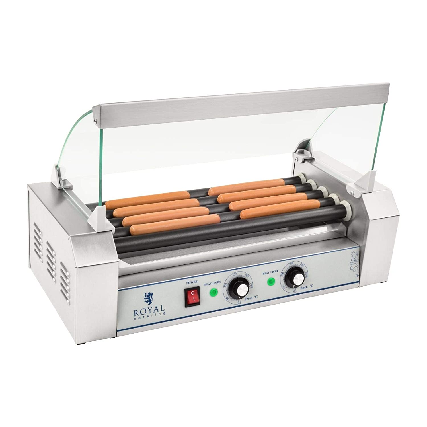 Royal Catering - RCHG-5T - 5-Roller Sausage Grill with Teflon Coating