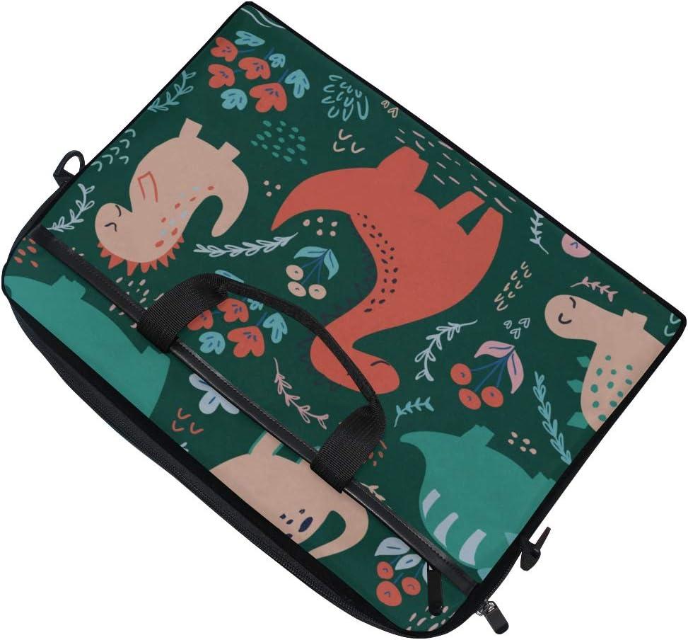Briefcase Messenger Shoulder Bag for Men Women College Students Business People Office Workers Laptop Bag Cute Dinosaurs 15-15.4 Inch Laptop Case