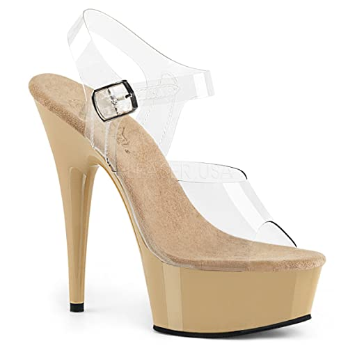3204df63c2009 Pleaser Women's Delight-608/C/SCH Platform Sandal
