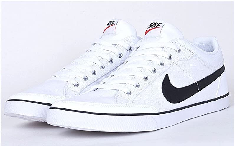 Guerrero Engaño Felicidades  Nike Capri III Low Txt White Black Trainers - 579620 100 (UK 14 US 15 EUR  49.5): Amazon.co.uk: Shoes & Bags
