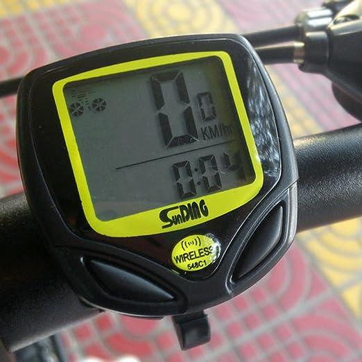 Bicicleta de ciclismo con contador de velocidad, odómetro para ...