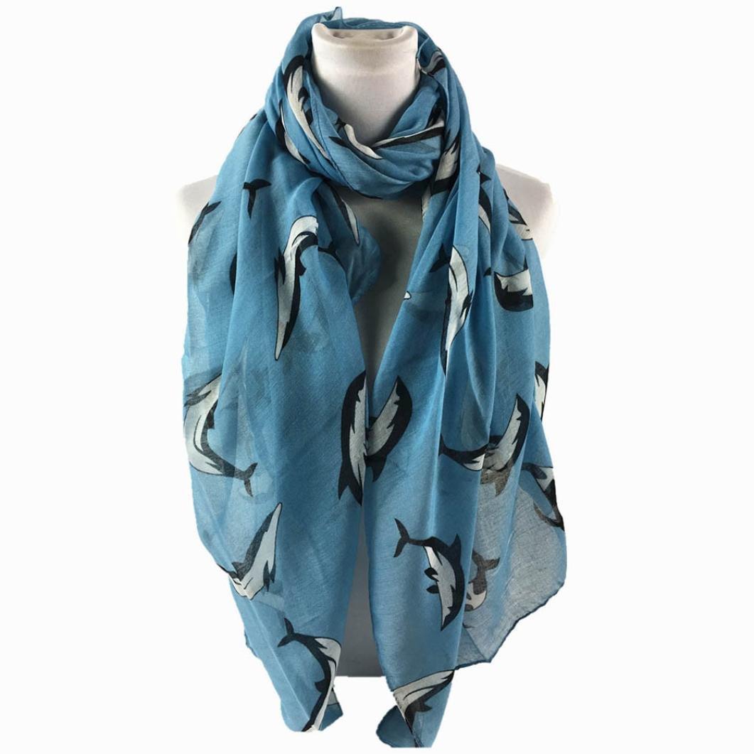 660d2b065607c HUHU833 Écharpes châle foulards Femmes impression dauphin longue écharpe  châle Automne Hiver (Kaki)