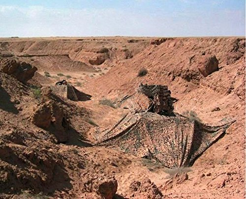 Military Desert Camo Netting,Hulorry Lightweight Camouflage Net Woodland Desert Camping Military Hunting Shooting Sunscreen Nets Desert Camo Net Sunscreen Netting 6.5ft x13.1ft