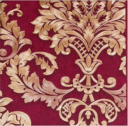 continental-damascus-hotel-hotel-works-wallpaper-bedroom-sofa-living-room-tv-wallpaper-k3-81014-red