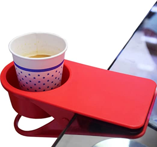 High Quality Cup Drink Coffee Holder Clip Use Desk Home Office Table