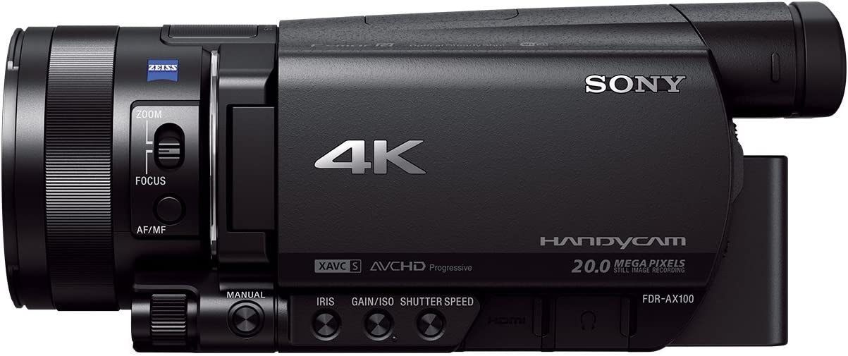 Sony FDR-AX100EB Ultra HD 4K Camcorder (29 mm Wide Angle Lens, Record Long 4K Videos in XAV S Format, Wi-Fi and NFC) - Black