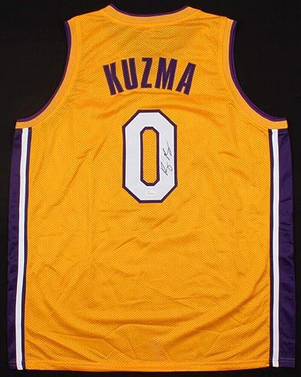 fec191adff3 Kyle Kuzma Autographed Signed Memorabilia Los Angeles Lakers Kuzma Kid Jersey  JSA Coa 2017 1st Rd Pk at Amazon's Sports Collectibles Store