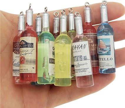 10pcs//lot Wine Bottle Charms Pendants For DIY Necklace Bracelet Handmade Craft