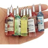 20-pack Bulk Mini Transparent Resin Drink Bottle Charms Pendant Findings 22x10mm