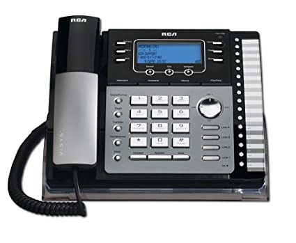 amazon com rca 25425re1 na 1 handset 4 line landline telephone rh amazon com RCA 6 0 Phone Manual RCA 25425RE1 Manual