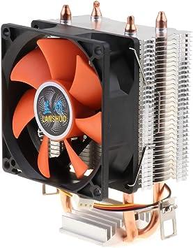 Shiwaki CPU Cooler Dual Heatpipes Ventilador Silencioso Ventilador ...