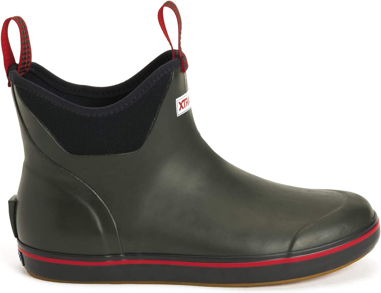 Xtratuf Men's 6 in Ankle Deck Boot Hunter Green