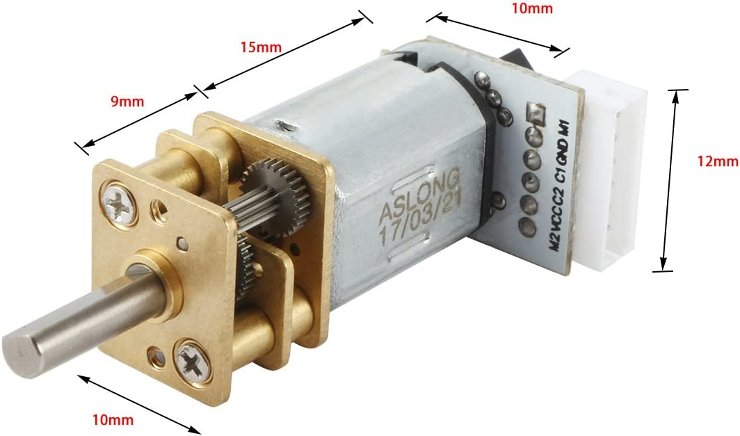 uxcell DC 12V 1000RPM Micro Speed Reduction Motor Mini Gearbox with Wires for RC Car Robot Model DIY Engine Toy