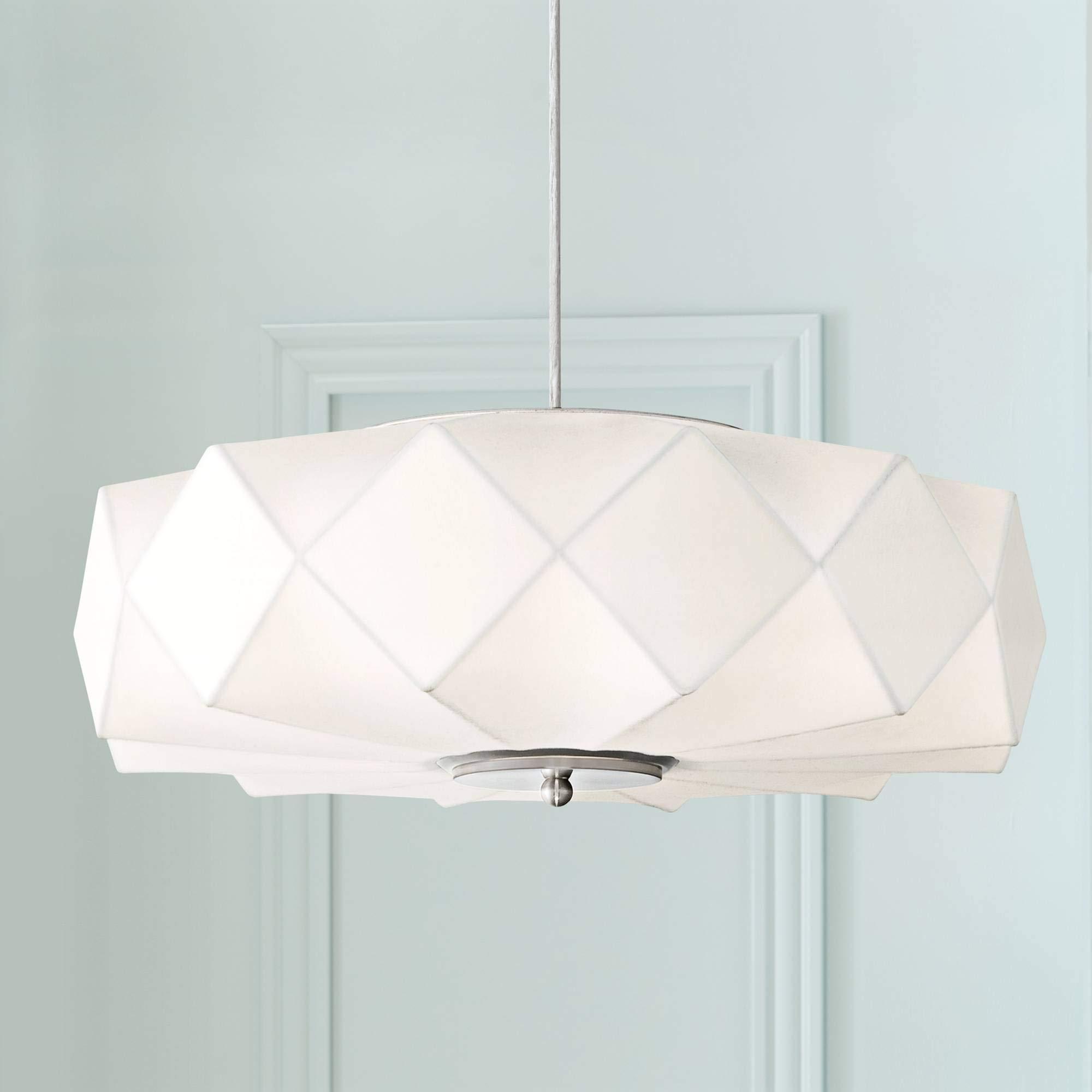 Possini Euro Glacier 20'' Wide Contemporary White Pendant - Possini Euro Design