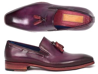 d54ed02dbb4 Paul Parkman Men s Tassel Loafer Purple (Id 5141PRP) (38 M EU