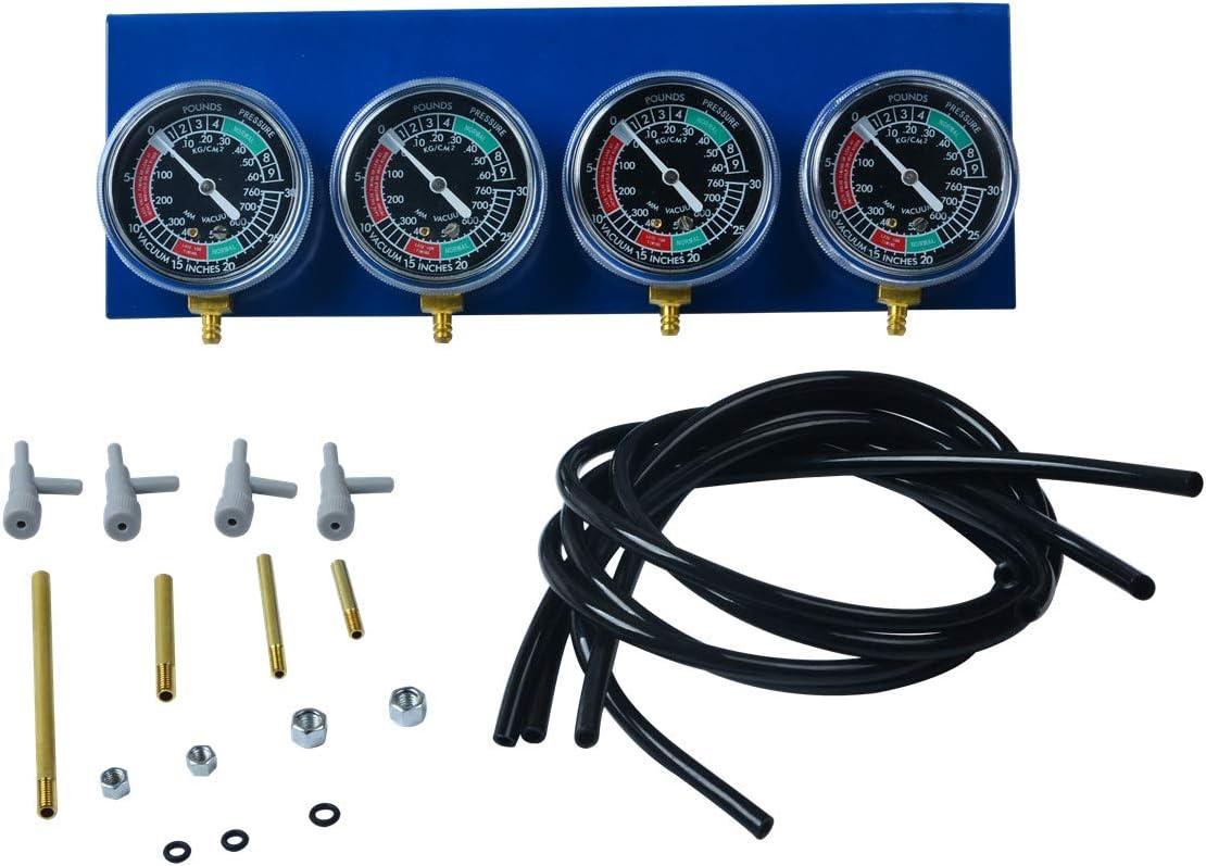 Prokomon Motorcycle Carb Carburettor Synchronizer Vacuum Balancer Gauge 2/4 Cylinder Sync Gauges Kit PT1869
