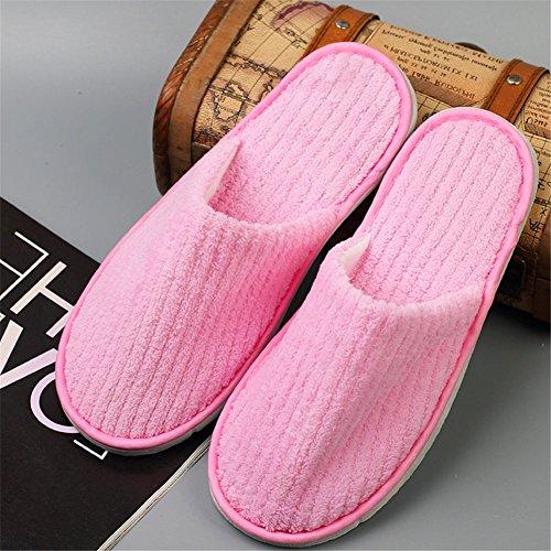 Pantofole Usa E Getta Per Gli Ospiti Pantofole Chiuse Punta Spa Per Donne E Uomini, Vello Di Corallo D