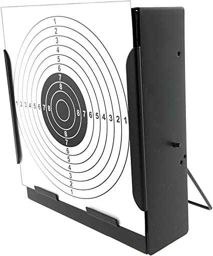 SportPro Metal Box BB Catcher Target with 20 Paper Targets for AEG GBB Airsoft Black
