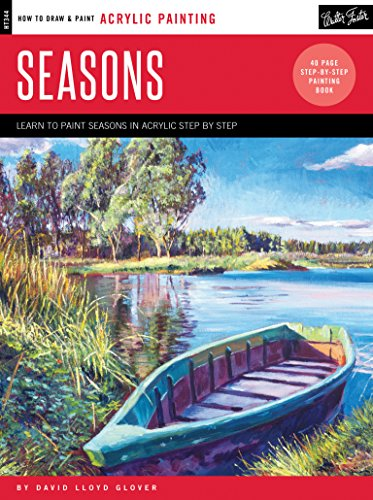 Acrylic: Seasons: Learn to paint the colors of the seasons step by step (How to Draw & - Watercolor Winter Paintings