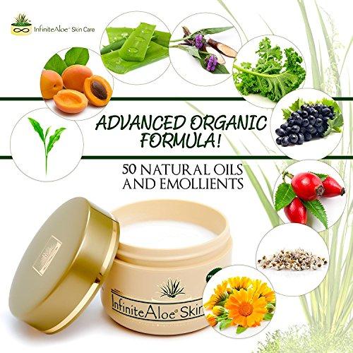 Infinite Aloe Skin Care Cream, Fragrance Free, 8oz. - 2 Jars - ** (Plus 2 Bonus 0.5 oz InfiniteAloe Travel Jars) ** by InfiniteAloe (Image #3)