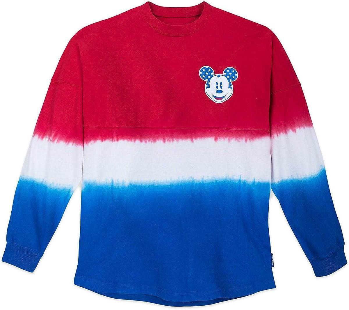 Disney Mickey Mouse Tie-Dye Americana Spirit Jersey for Adults Multi