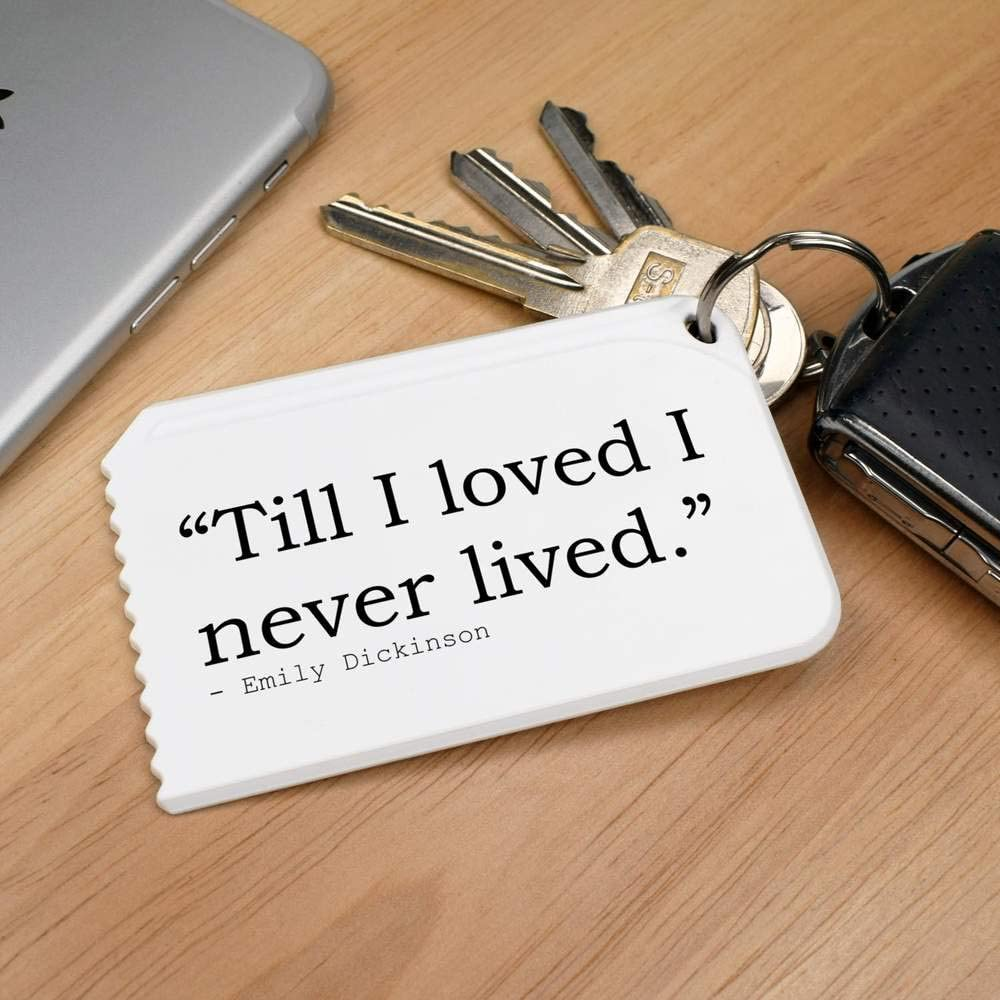 Quote By Emily Dickinson Plastic Ice Scraper Stamp Press Till I loved I never lived IC00007281