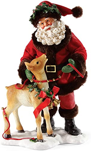 Department 56 Possible Dreams Deer Friends Santa Figurine