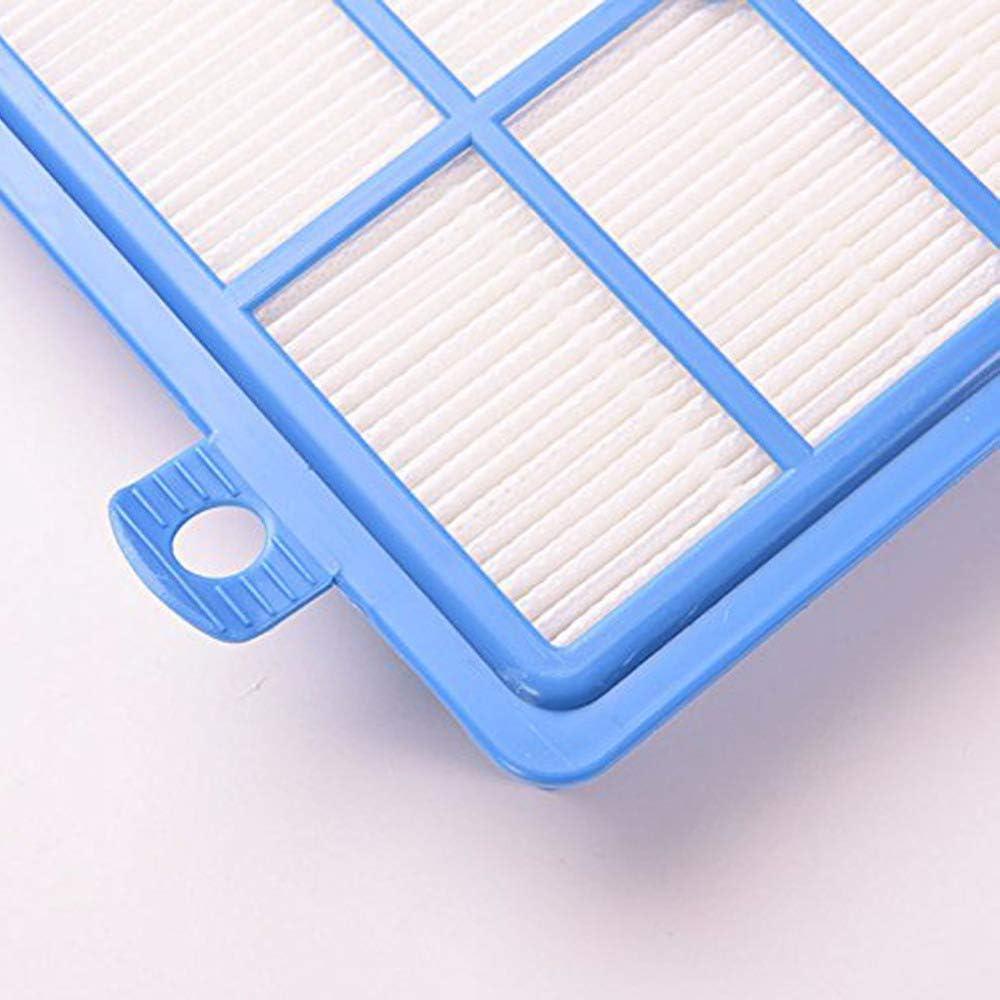 Beauneo Filtro Lavabile 2 Pezzi Hepa Filter H12 H13 4 Pezzi Filtro Cotone motorizzato per Parti di Ricambio Aspirapolvere Electrolux AEG