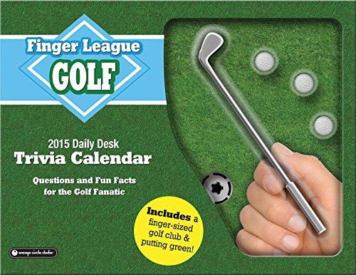 Executive Desk Calendar Box - Orange Circle Studio 2015 Finger League Daily Desk Calendar, Golf (11536)