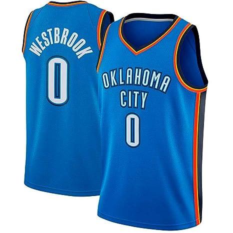 runvian Camiseta de Baloncesto para Hombre, NBA Thunder 0 ...