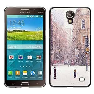 LECELL--Funda protectora / Cubierta / Piel For Samsung Galaxy Mega 2 -- Calle Invierno Nieve Navidad Francia --